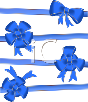 Royalty Free Clipart Image of Christmas Bows