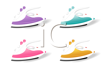 Royalty Free Clipart Image of a Set of Irons