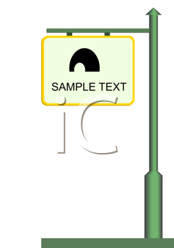 Royalty Free Clipart Image of a Street Sign