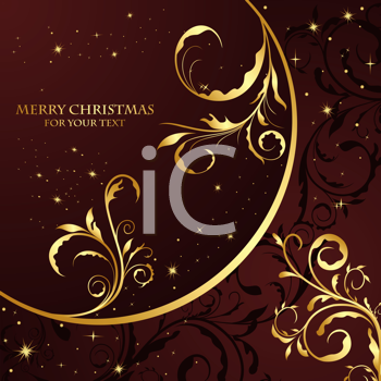Royalty Free Clipart Image of a Christmas Floral Background