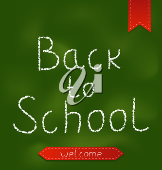 Illustration Back to school background with ribbons - vector