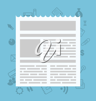 Sigh simple icon newsletter for web and application design - vector