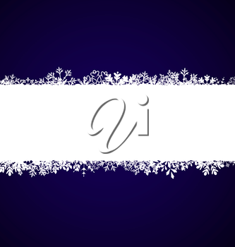 Illustration Winter Abstract Frame with Snow. Christmas Snowflake Surface - Vector