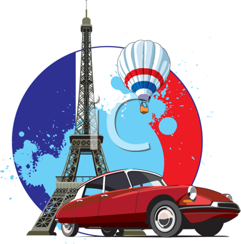 Royalty Free Clipart Image of a Vacation in Paris Background