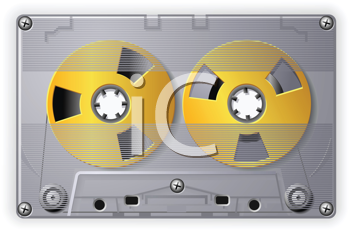 Royalty Free Clipart Image of an Audio Cassette Tape