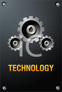 Royalty Free Clipart Image of a Technology Sign