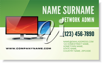 Royalty Free Clipart Image of a Business Card