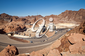 Royalty Free Photo of a View of the Hoover Dam