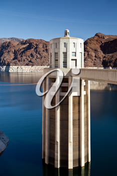 Royalty Free Photo of the Hoover Dam on the Colorado River