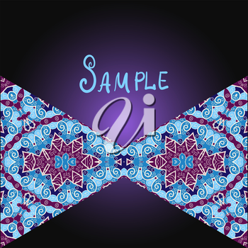 Tribal flyer design with two triangles.