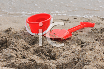 Royalty Free Photo of a Sand Pail on the Beach
