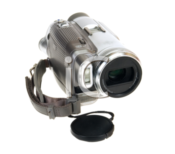 video camera isolated on white background
