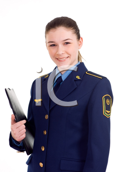 Royalty Free Photo of a Woman in Uniform