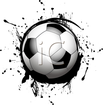 Royalty Free Clipart Image of a Soccer Ball Icon