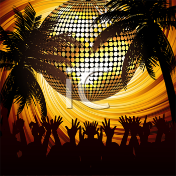 Royalty Free Clipart Image of a Tropical Party