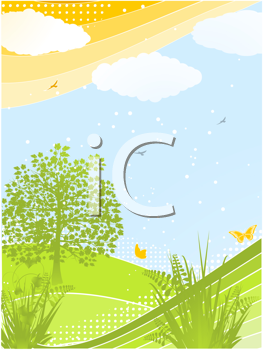 Royalty Free Clipart Image of a Spring Background