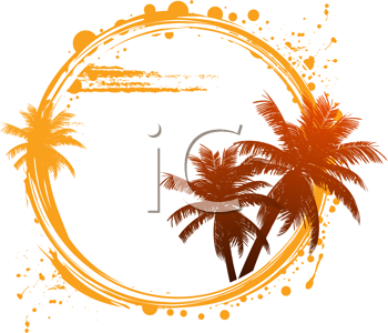 Royalty Free Clipart Image of a Tropical Summer Background