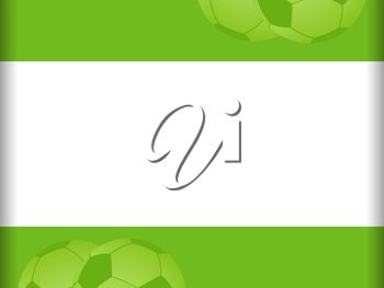 Football Border Background in White and Green