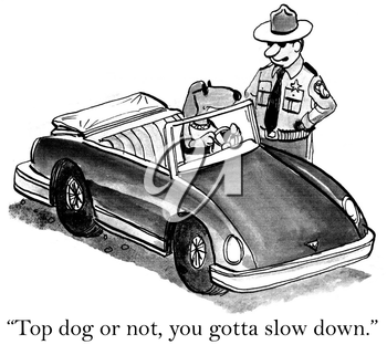 Top dog or not, you gotta slow down.