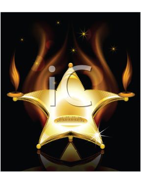 Royalty Free Clipart Image of a Star-Shaped Chair