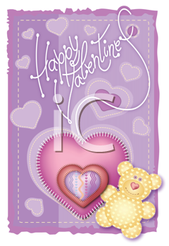 Royalty Free Clipart Image of a Greeting Card Valentine
