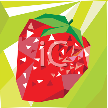 Royalty Free Clipart Image of an Abstract Strawberry