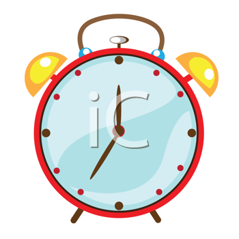 Royalty Free Clipart Image of an Alarm Clock