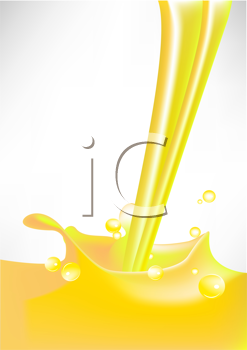 Royalty Free Clipart Image of Yellow Liquid