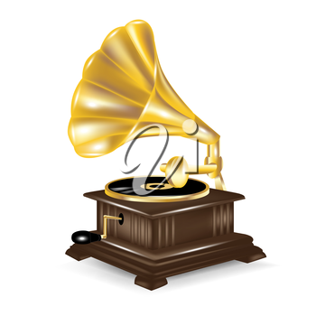 gramophone isolted on white background