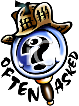 Royalty Free Clipart Image of a Magnifying Glass With a Sherlock Holmes Hat