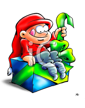 Elf packets excited his gift out