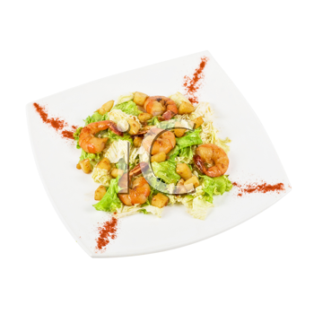 Royalty Free Photo of a Salad With Shrimp