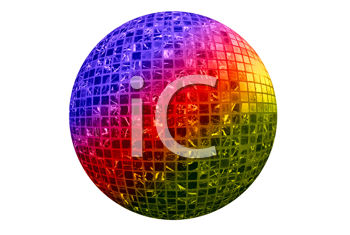 Royalty Free Photo of a Colorful Disco Ball