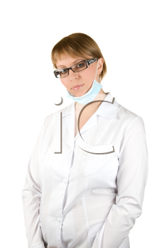 Royalty Free Photo of a Nurse Wearing a Mask