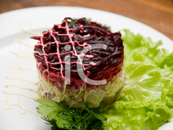 Royalty Free Photo of a Salad with Herring