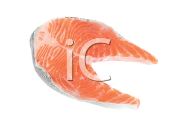 trout steak fish isolated on a white background