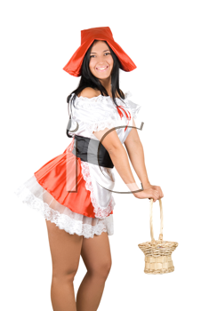 Royalty Free Photo of a Sexy Little Red Riding Hood