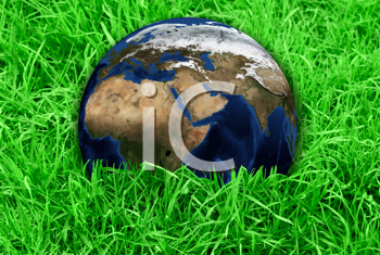 Royalty Free Photo of Earth in Grass