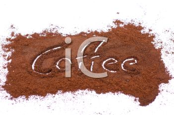 milled coffee sign on a white background