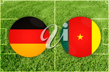 Confederations Cup football match Germany vs Cameroon