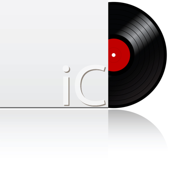 Royalty Free Clipart Image of a Vinyl Record