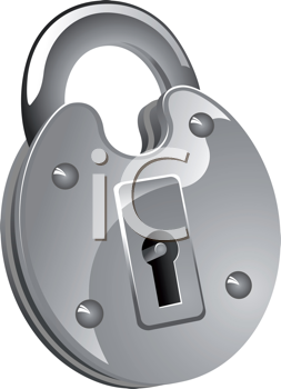 Royalty Free Clipart Image of a Padlock