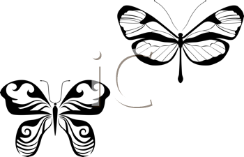 Royalty Free Clipart Image of Butterflies