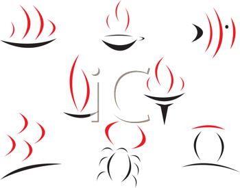 Royalty Free Clipart Image of Abstract Symbols