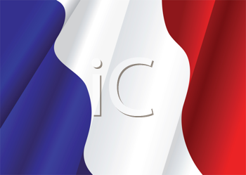 Royalty Free Clipart Image of a French Flag as a Background