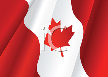 Royalty Free Clipart Image of a Canadian Flag