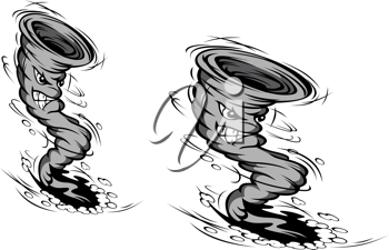 Danger hurricane in cartoon style for weather or disaster design