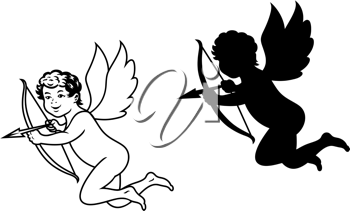 Cherub or cupid angel for religion and love concept