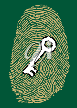 Fingerprint in motherboard style and security key