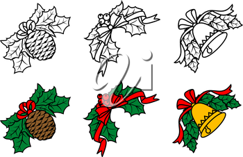 Royalty Free Clipart Image of Festive Elements
